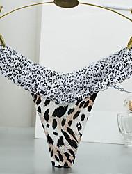 billige Truser-Dame G-streng og tanga Leopard Medium Midje