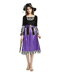 cheap -Pirates of the Caribbean / Pirate Outfits Unisex Halloween / Carnival / Children's Day Festival / Holiday Halloween Costumes Purple Solid Colored / Striped / Halloween Halloween
