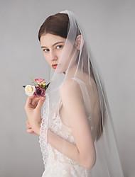 Недорогие -Один слой Милая Свадебные вуали Фата до кончиков пальцев с Бахрома 45,28 В (115см) Хлопок / нейлон с намеком на участке / Классическая