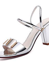 povoljno -Žene Cipele PU Ljeto D'Orsay cipele Sandale Kockasta potpetica Zlato / Pink