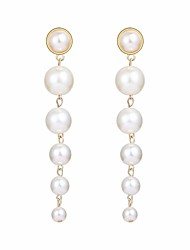 cheap -Women's Freshwater Pearl Long / Link / Chain Hoop Earrings - Creative, Ball Statement, Elegant Gold For Party / Evening / Evening Party