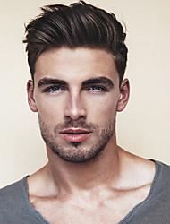 Недорогие -Муж. Натуральные волосы Накладки для мужчин Прямой Моноволокно / 100% ручная работа Мягкость