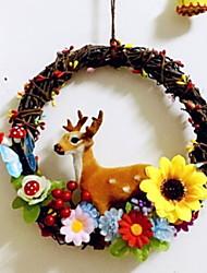 Недорогие -Рождественские украшения Праздник деревянный Круглый деревянный Рождественские украшения