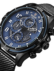 cheap -Men's Sport Watch Wrist Watch Japanese Quartz Calendar / date / day Casual Watch Cool Stainless Steel Band Analog Luxury Fashion Black / Blue - Blue Black / Gray Black / Rose Gold / Large Dial
