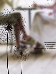 Недорогие -Оконная пленка и наклейки Украшение Простой Цветочный принт ПВХ Стикер на окна
