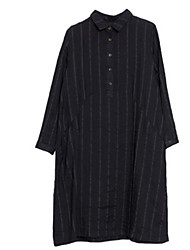 cheap -Women's Vintage Shirt - Solid Colored / Striped Print