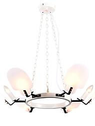 preiswerte -ZHISHU 6-Licht Kreisförmig / Sputnik / Neuartige Kronleuchter Raumbeleuchtung - Ministil, Kreativ, Neues Design, 110-120V / 220-240V Glühbirne nicht inklusive