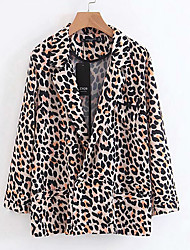 cheap -Women's Basic Blazer-Leopard,Print