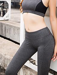 economico -Per donna Sexy Pantaloni da yoga - Nero, Grigio, Acquamarina Gli sport Tinta unica Calze / Collant / Cosciali Corsa, Fitness, Danza Abbigliamento sportivo Traspirante, Morbido, Compressione Elevata