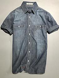 halpa -miesten paita - kiinteä värillinen paita kaulus