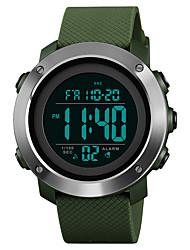 Недорогие -SKMEI Муж. Спортивные часы Армейские часы Японский Цифровой 30 m Защита от влаги Будильник Календарь PU Группа Цифровой На каждый день Мода Черный / Зеленый - Черный Зеленый / Один год / Секундомер