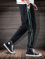economico -Per uomo Tasche / A cordoncino / Beam Foot Pantaloni da corsa / Pantaloni da pista - Nero, Caffè, Verde militare Gli sport Strisce Pantaloni Fitness, Allenarsi Abbigliamento sportivo Traspirante