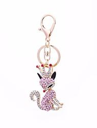 abordables -Renard Porte-clés Rose Irrégulier, Animal Imitation Diamant, Alliage Doux, Mode Pour Cadeau / Quotidien
