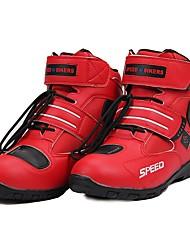 Недорогие -верховая езда дышащая мотоцикл сапоги мото обувь мотоцикл нескользящая верховая езда гоночный мотокросс pu кожаная обувь - красный