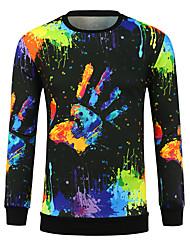 billige -Herre Basale Sweatshirt - Farveblok