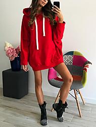 baratos -saia longa de manga comprida slim feminina com capuz - capuz colorido sólido