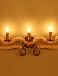 Недорогие -Винтаж Настенные светильники Гостиная Металл настенный светильник 220-240Вольт