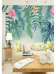 abordables -fond d'écran / Mural Toile Revêtement - adhésif requis Fleur / arbres / Feuilles / 3D