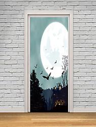 abordables -Pegatinas de puerta - Calcomanías 3D para Pared / Holiday pegatinas de pared Animales / Halloween Interior / Habitación de Niños