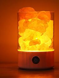 baratos -1 pcs luz da noite usb fonte de alimentação natural do sal do himalaia lâmpada de cristal único sais de iluminação para casa quarto decoração artesanato