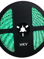 Недорогие -HKV 5 метров Гибкие светодиодные ленты 300 светодиоды 5050 SMD RGB Водонепроницаемый / Можно резать / Компонуемый 12 V