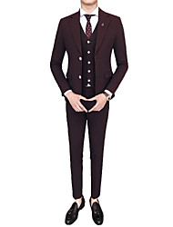cheap -Men's Suits-Solid Colored Peaked Lapel / Long Sleeve