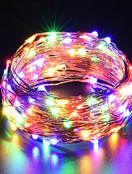 Недорогие -ZDM USB медный провод огни фея строка 10 м / 33 фута 100 светодиодов с 7 различными цветами RGB автоматически менять водонепроницаемые звёздные огни Dcor