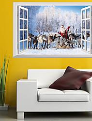Недорогие -Декоративные наклейки на стены - 3D наклейки / Люди стены стикеры Рождество / Цветочные мотивы / ботанический Детская