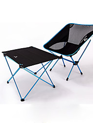 """Недорогие -BEAR SYMBOL Складное туристическое кресло Туристический стол На открытом воздухе Легкость, Противозаносный, Складной Ткань """"Оксфорд"""", Алюминий 7075 для Рыбалка / Походы - Синий"""