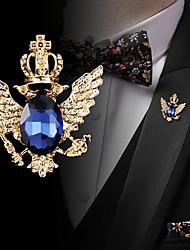 Недорогие -Муж. Цирконий Ретро Стильные Броши Мода Элегантный стиль Английский Брошь Бижутерия Черный Синий Назначение Свадьба Праздники