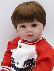 cheap -NPKCOLLECTION Reborn Doll Baby Boy 24 inch Artificial Implantation Brown Eyes Kid's Boys' Gift