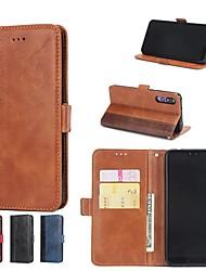 baratos -Capinha Para Huawei P20 Pro / P10 Plus Carteira / Porta-Cartão / Com Suporte Capa Proteção Completa Azulejo Rígida PU Leather para Huawei P20 / Huawei P20 Pro / Huawei P20 lite / P10 Lite
