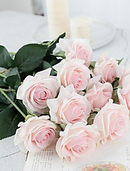 cheap -Artificial Flowers 5 Branch Classic / Single Stylish / Pastoral Style Roses Tabletop Flower