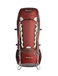 Недорогие -60-70 L Заплечный рюкзак - Дожденепроницаемый Пригодно для носки Впитывает пот и влагу На открытом воздухе Пешеходный туризм Походы Горные лыжи 100 г / м2 полиэфирный стреч-трикотаж Зеленый Синий Вино