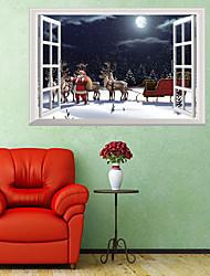 Недорогие -Декоративные наклейки на стены - 3D наклейки / Люди стены стикеры Животные / Рождество Детская