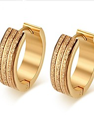 cheap -Men's Stylish Earrings - Titanium Steel Creative Fashion Gold For Gift / Daily