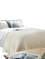 Недорогие -Супер мягкий, Активный краситель Однотонный Акриловые волокна / Хлопок одеяла