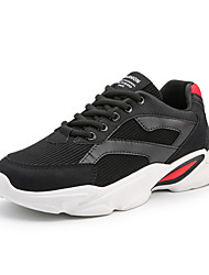 cheap -Men's Comfort Shoes Mesh Fall Sporty Athletic Shoes Basketball Shoes Breathable Black / Black and White / Red