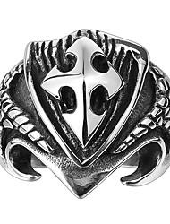 economico -Per uomo Vintage / 3D Band Ring - Inossidabile Creativo Vintage, Punk 9 / 10 Nero Per Quotidiano / Strada