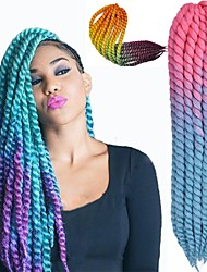 cheap -Braiding Hair Curly Dreadlocks / Faux Locs Synthetic Hair 1 pc Hair Braids 20 inch 50cm(Approx20inch) Party / Synthetic / Color Gradient Performance / Daily Wear / Date African Braids