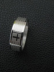 cheap -Couple's Classic / Stylish Ring - Stainless Cross, Letter Simple, Casual / Sporty, Fashion 6 / 7 / 8 Silver For Daily / Date