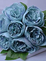 baratos -Flores artificiais 7 Ramo Clássico / Solteiro (L150 cm x C200 cm) Estiloso / Pastoril Estilo Peônias Flor de Mesa