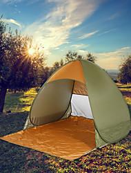 abordables -2 Personas Tienda con pantalla protectora Una capa Carpa para camping Al aire libre Ligero, Resistente a la lluvia, Transpirabilidad para Camping / Senderismo / Cuevas / Viaje 1000-1500 mm Tejido