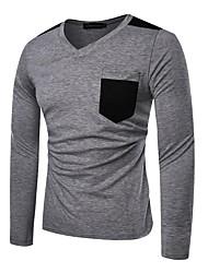 billige -Herre - Ensfarvet Basale T-shirt