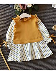 billige -Baby Pige Ensfarvet Langærmet Kjole
