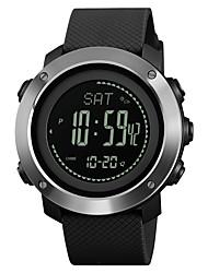 Недорогие -SKMEI Муж. Жен. Спортивные часы Армейские часы электронные часы Японский Цифровой Стеганная ПУ кожа Черный / Зеленый 30 m Защита от влаги Будильник Календарь Цифровой На каждый день Мода -  / Компас