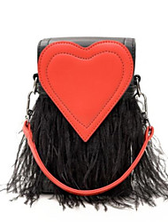 abordables -Femme Sacs PU Mobile Bag Phone Fermeture / Gland Noir / Argent