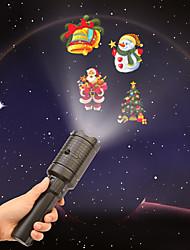 Недорогие -светодиодный портативный проектор lightsbattery-работает 2 в 1 украшение свет 4slides проекции праздничные огни для празднования рождественские Хэллоуин и украшение дня рождения