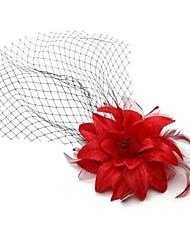 baratos -Rede Fascinadores com Flor 1pç Casamento / Ocasião Especial / Aniversário Capacete