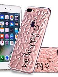 Недорогие -Кейс для Назначение Apple iPhone X / iPhone 8 Plus Прозрачный / С узором Кейс на заднюю панель Слова / выражения Мягкий ТПУ для iPhone X / iPhone 8 Pluss / iPhone 8
